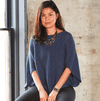Knit Poncho - Indigo Heather - Ethical Shirts - Serrv