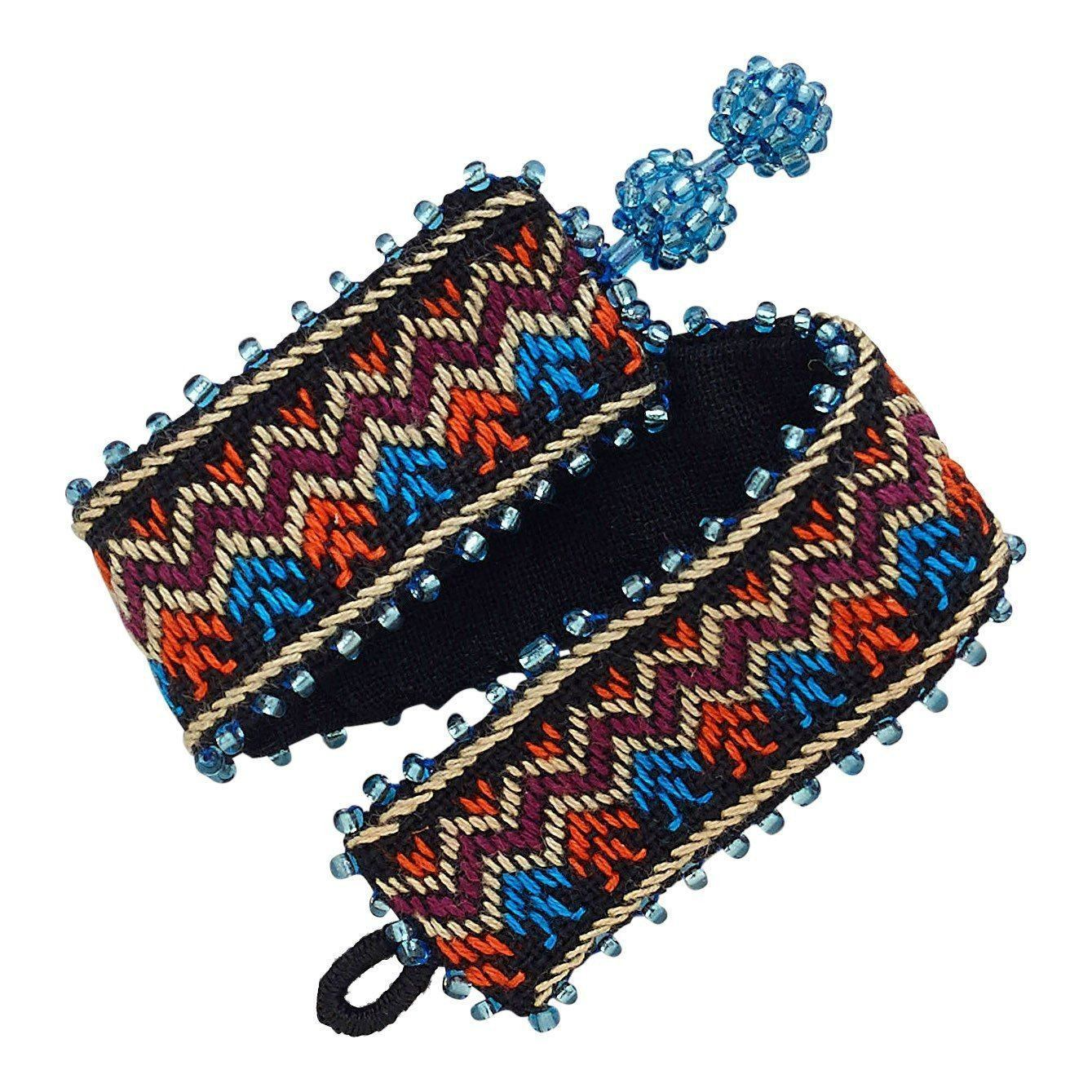 Woven Fabric Bracelet Discounted Ethical Fashion Love Justly