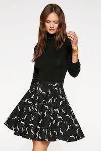 Birds in Flight Skirt Black and White - Ethical Skirts - Symbology