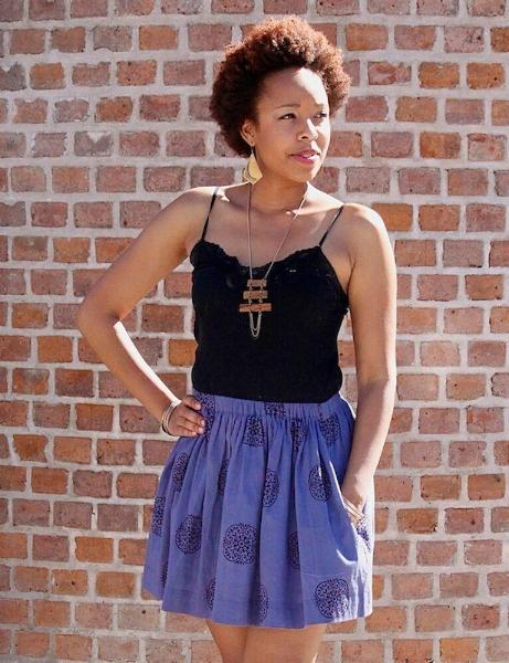 Blue Short Skirt - Ethical Skirts - Passion Lilie