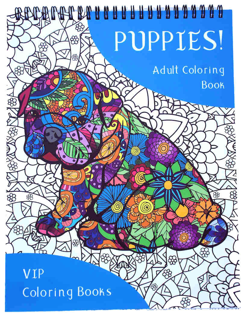 puppies coloring book vip coloring books
