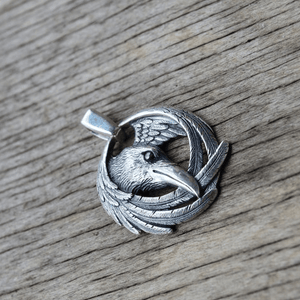 Odin's Raven Huginn & Muninn Necklace