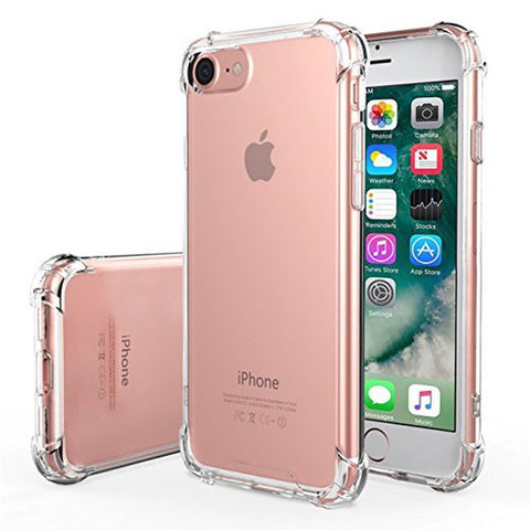 iPhone 7 Cases Air Cushion Soft TPU Transparent All Round Protective Shockproof Bumper 4.7 Inch - Idiyka.com
