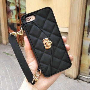 iPhone 7 Cases Lady Elegant Silicone Anti-drop Portable Clutch  Holder Card Wallet - Idiyka.com