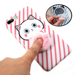 iPhone 7 Cases & 7 Plus 3D Squishy Squeeze Slow Rising Cat Claws Soft TPU - Idiyka.com