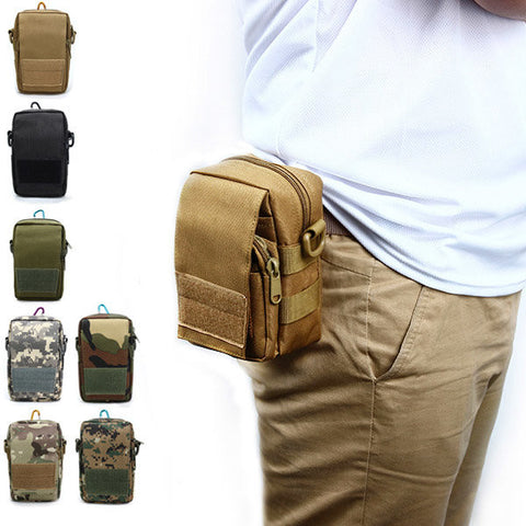 Men's Tactical Bags  Cell Phone Pocket Waterproof  Multifunction Outdoor Camouflage - Idiyka.com