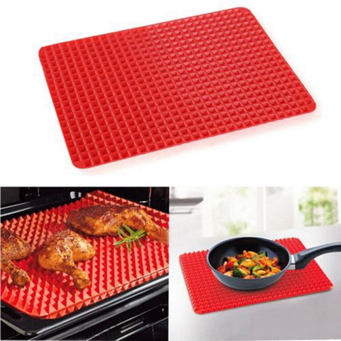 1 Piece Red Pyramid Bake-ware Pan Nonstick Silicone Baking Mats Idiyka