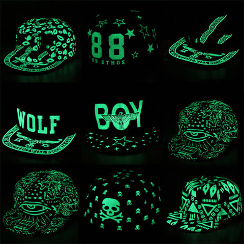Baseball Cap Hip Hop Fluorescent Light Luminous Idiyka