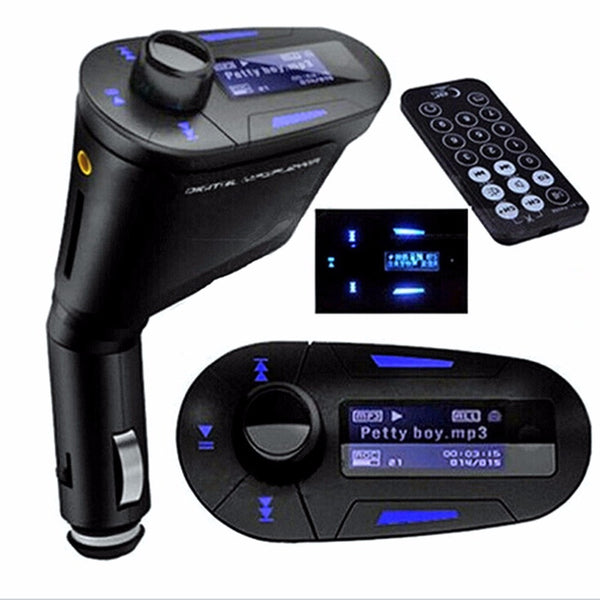 Car MP3 Player bluetooth kit FM Transmitter Modulator USB MMC LCD + remote control - Idiyka.com