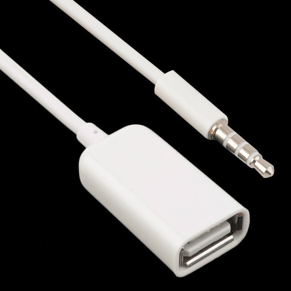 3.5mm Male AUX Audio Plug Jack To USB extension cable 2.0 - Idiyka.com