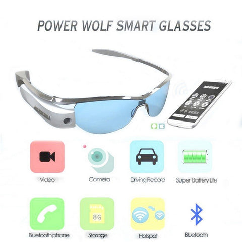 Bluetooth Wifi  Glasses Polarized  Replaceable Lens Dvr 8G RAM Sport Eyewear For Android IOS