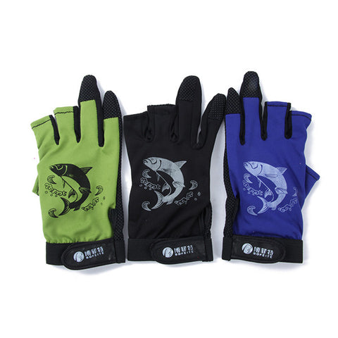3 Cut Finger  Anti-Slip Pack Fishing Gloves - Idiyka.com