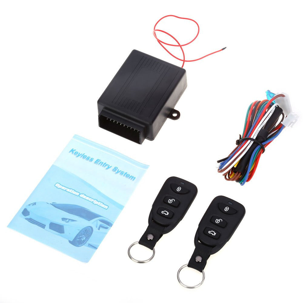 Auto Remote Central Kit Door Lock Locking Vehicle Keyless Entry  With Remote Controllers - Idiyka.com