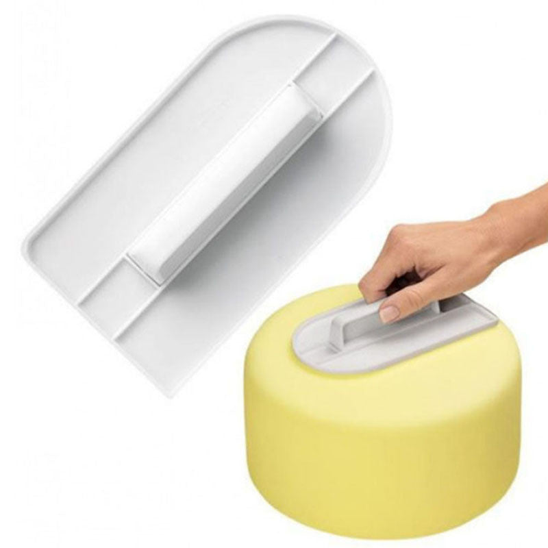 Plastic Cake Decorating Smoother Polisher Tools Cutter - Idiyka.com