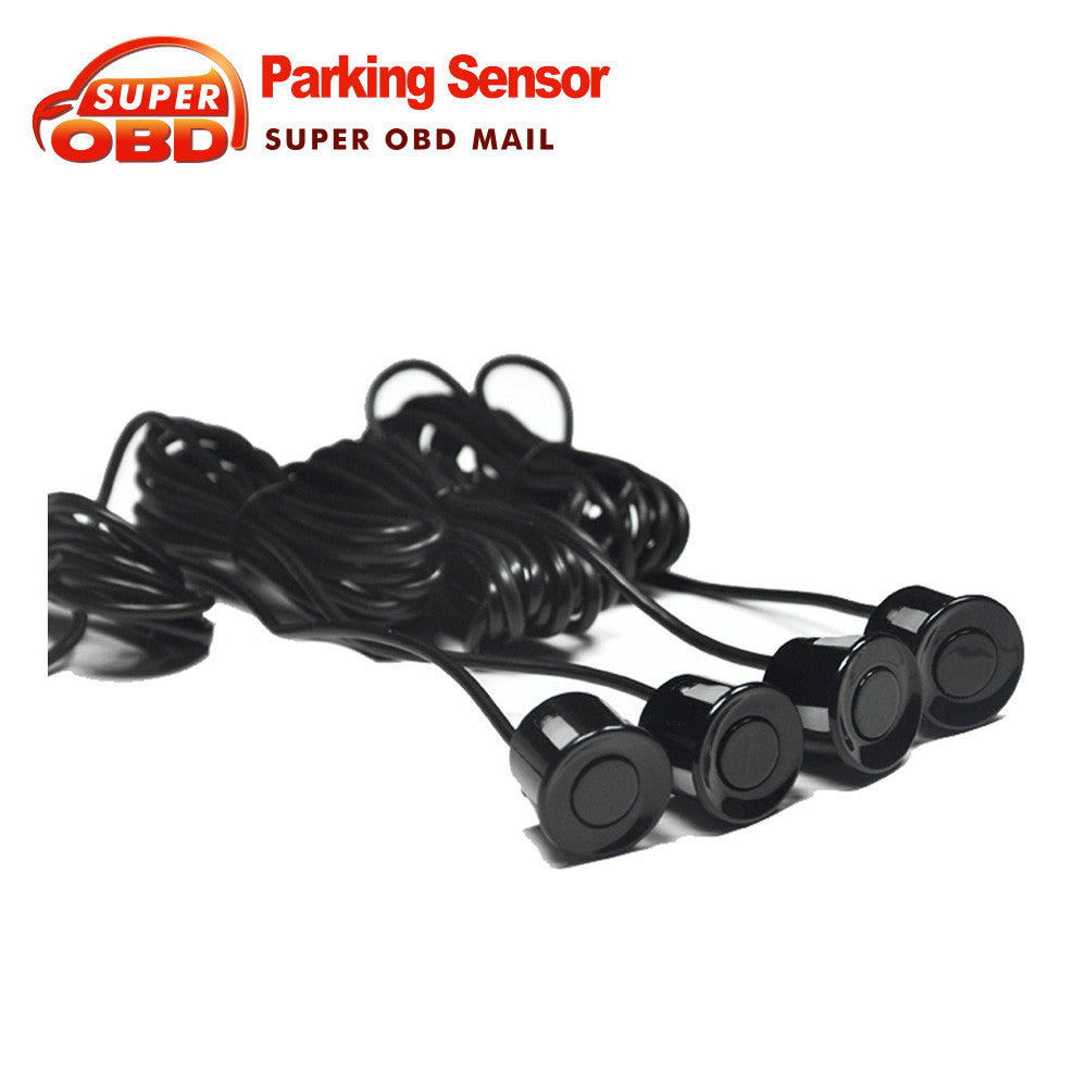 4 Sensors Buzzer No Drill Hole Saw 22mm Car Parking Sensor Kit Reverse Radar - Idiyka.com