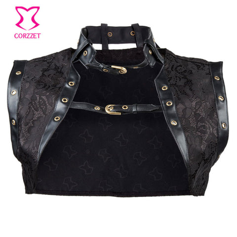 Leather Steampunk Corset Women Jacket Idiyka