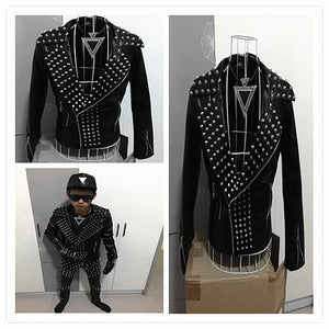 Fashion Male Punk Leather jacket - Idiyka.com