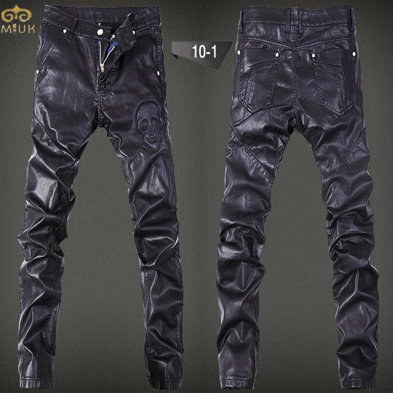 Men Leather Pants Hip Hop Cargo - Idiyka.com