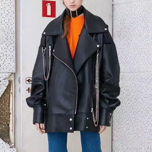 Jacket Leather Clothing Loose Coat Tide Men PU Idiyka