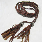 PU Leather Woven Belt