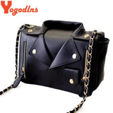 Motorcycle Jacket Bags Messenger Bag  Women Leather Handbags
