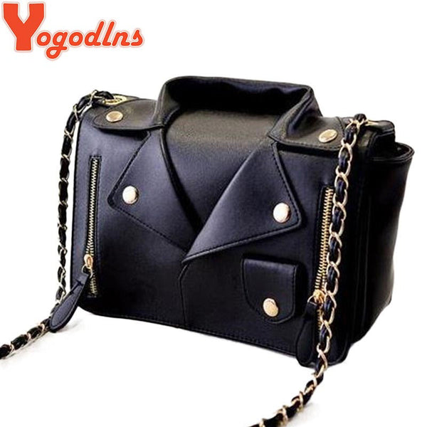 Motorcycle Jacket Bags Messenger Bag  Women Leather Handbags - Idiyka.com