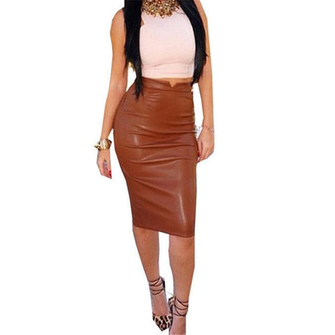 Women Pu Leather Short Pencil Skirts Sep 23