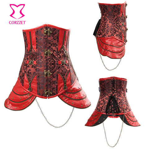 Leather Gothic Corsets For Women Idiyka
