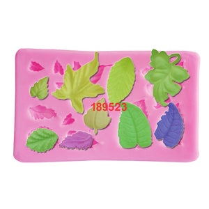 Mini leaves set cake border fondant cake mold - Idiyka.com