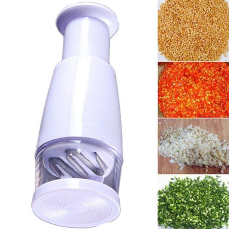Vegetable Garlic Onion Presser Onion Food Slicer Peeler Chopper Cutter - Idiyka.com