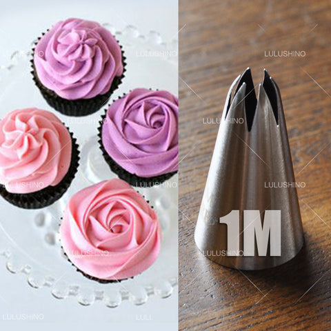 Stainless Steel Nozzles Rose  Pastry  Cake  Decorator