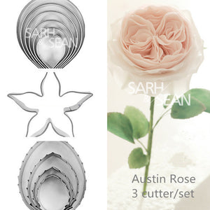 3pcs/set Metal cookie cutters set big rose - Idiyka.com