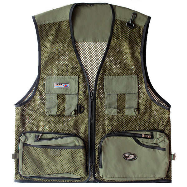 Men's Fishing Vests Multifunctional Jacket Idiyka