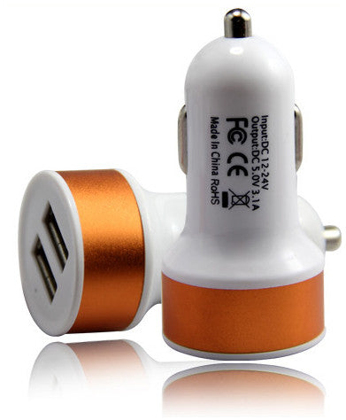 Universal Circuit-Breaker Protection Dual USB Port 5V 3.1A Car Charger - Idiyka.com