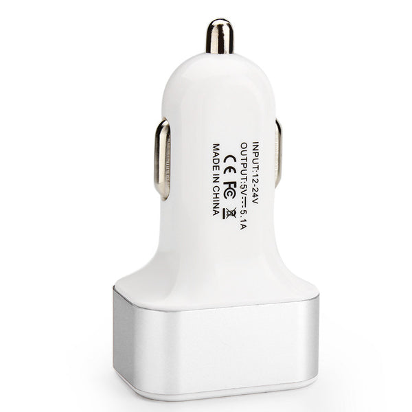 Universal Triple Car Charger Adapter USB  3 Port r 2.1A 2A 1A - Idiyka.com