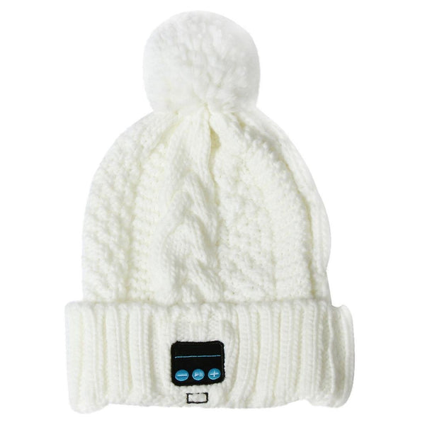Bluetooth Hat Soft Warm Knitted Wireless Headphone Speaker Headset Mic - Idiyka.com