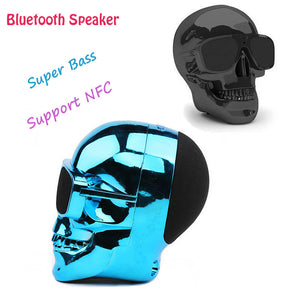 Plastic Metallic SKULL Wireless Bluetooth Speaker Sunglass NFC - Idiyka.com