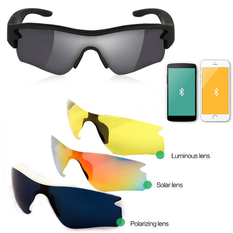 Bluetooth SunGlasses Headset headphone Wireless Headphone  Stereo - Idiyka.com