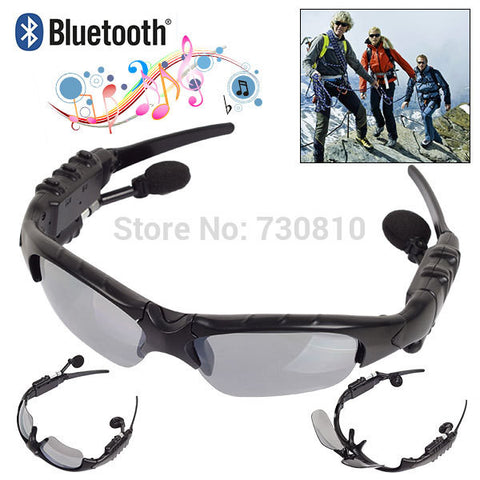 Bluetooth 4.0 Headset Outdoor Sports Glasses Wireless Headphones