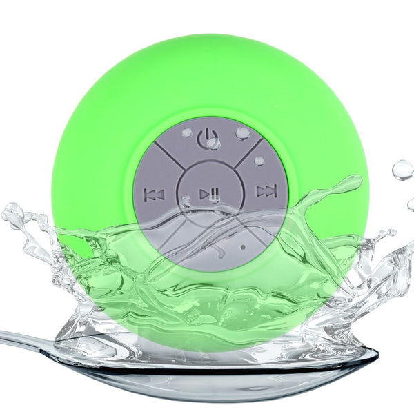 BTS-06 Mini Bluetooth Car Kit Water Resistant  Shower BT Speaker with Sucker - Idiyka.com
