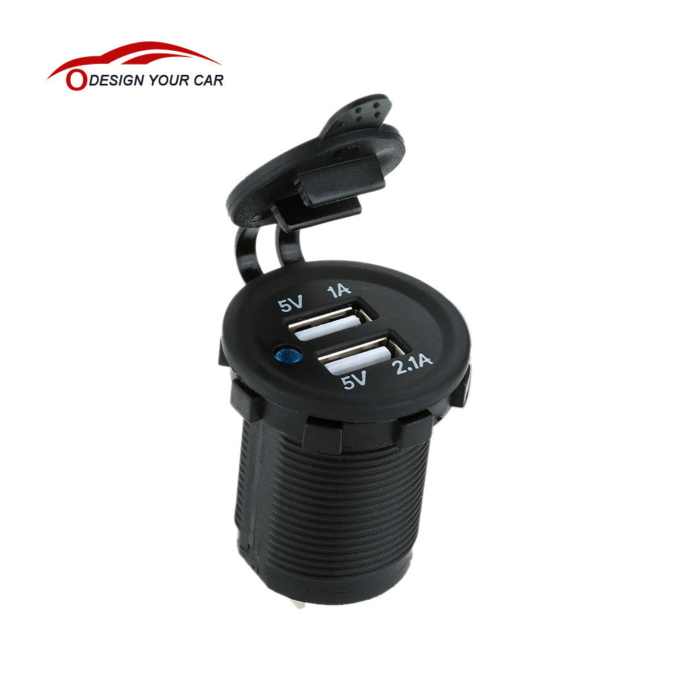 Auto Motorcycle Dual USB Car Charger Power - Idiyka.com