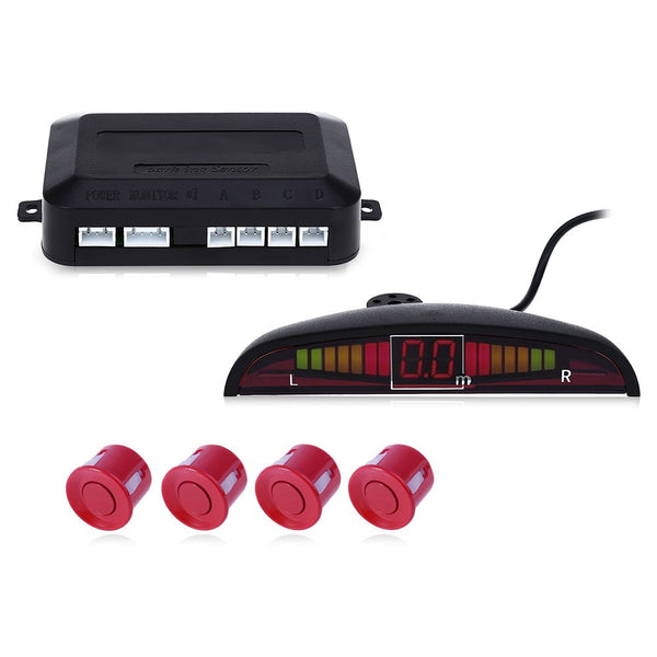 Auto LED Parking Sensor Kit Display 4 for all cars Reverse Assistance Backup Radar - Idiyka.com