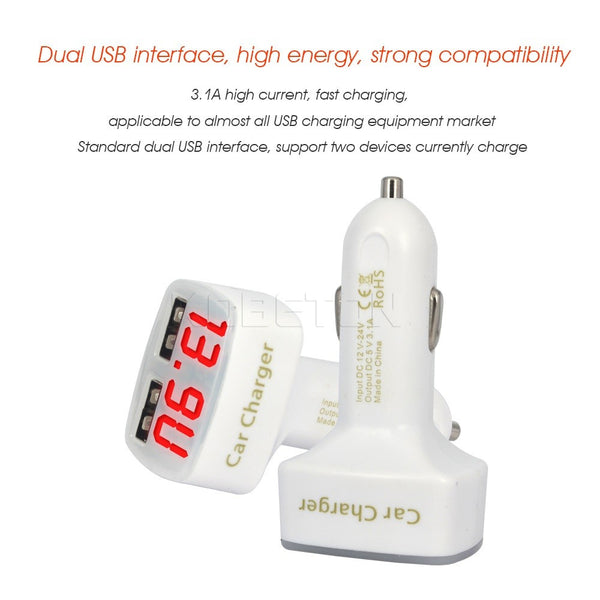 4 In 1 Dual USB DC 5V 3.1A usb Car Charger - Idiyka.com