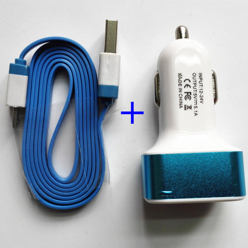 3 Port USB Car Charger Cable - Idiyka.com