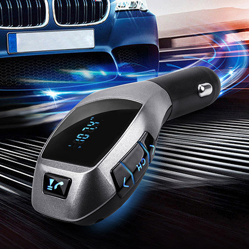 Bluetooth Car Kit Mp3 Player FM Transmitter X5 USB TF Charger  8PAG - Idiyka.com