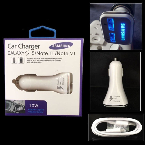9V 1.7A 5V 2A Fast QC2.0 Car Charger Rapid Adaptive Dual USB Charging  + Retail Packing - Idiyka.com