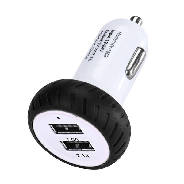 Vehicle Car Styling Mini Dual 2 Port 12V USB Auto In Car Charger - Idiyka.com