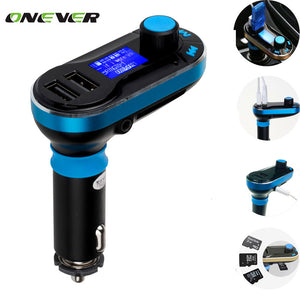 Dual USB MP3 Player FM Transmitter Modulator  Kit 3in1 LCD TF Card Music Player Car Charger - Idiyka.com