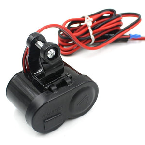 CS-313 Motorcycle Scooter USB Cigarette Lighter Charger - Idiyka.com