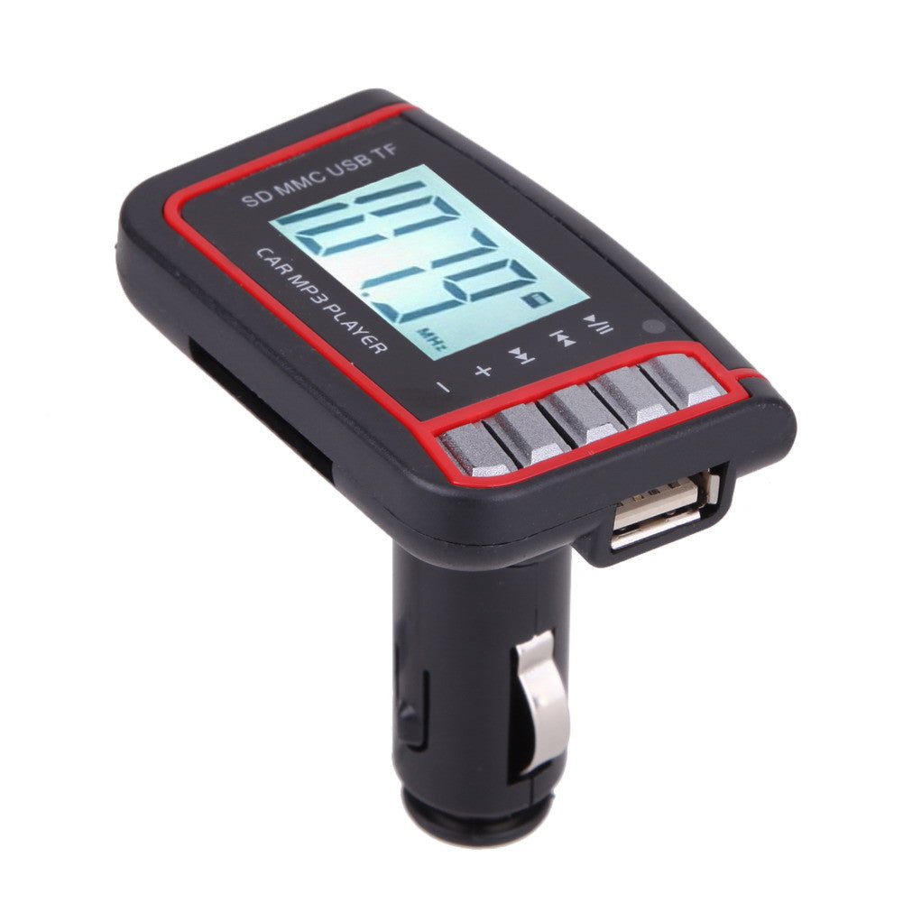 12V 1.44 inch LCD Screen Remove FM Transmitter With Control Support SD TF Card + Car MP3 Car Necessary Idiyka
